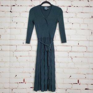 Gabby Skye Emerald Green Knit Sweater Dress